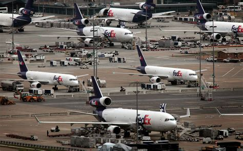 fedex freight planes at airport cargo airports planes and aviation