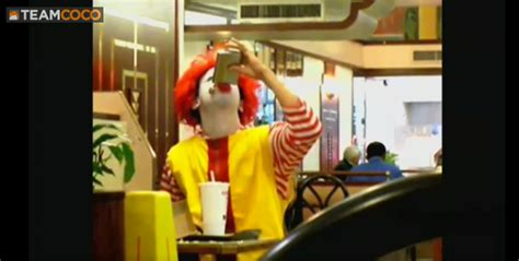 Mcdonalds Background Check Boozed Up Ronald Mcdonald Checks Up On His Employees