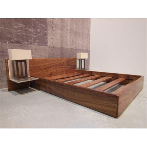 dollhouse headboard bed modern dollhouse furniture m112 pods walnut platform