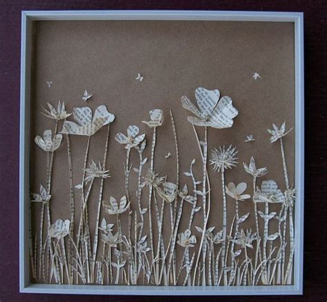 How To Make A Paper Sculpture Flower - 17 best ideas about shadow box on shadow box