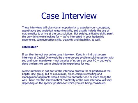 Occupational Therapy Interview Case Study Questions
