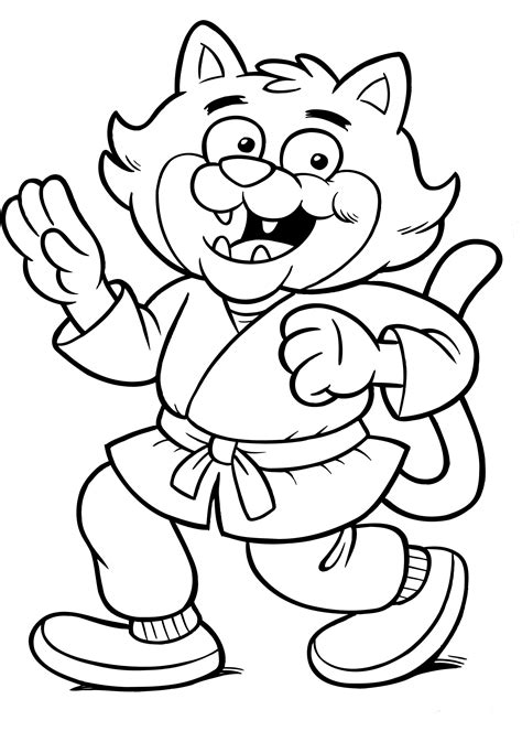 ninja cat coloring page ninja cat coloring pages free coloring pages
