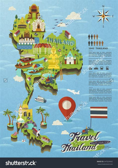 tourist map of with attractions thailand attractions map thailand tourist attractions