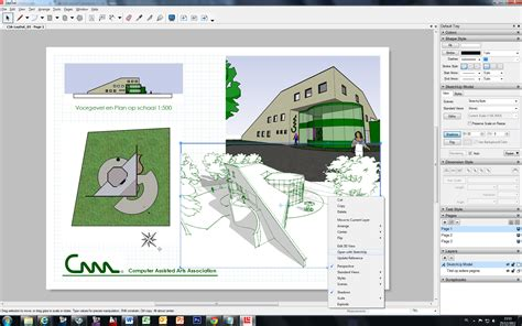 sketchup layout op schaal productinfo c3a
