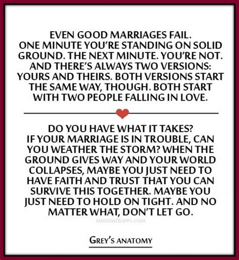 Wedding Quotes Greys Anatomy Do You Have What It Takes If Your Marriage Is In Trouble Can You Weather The Storm Grey S