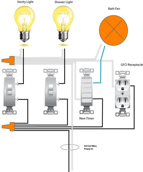 separate bathroom fan and light wiring diagram separate