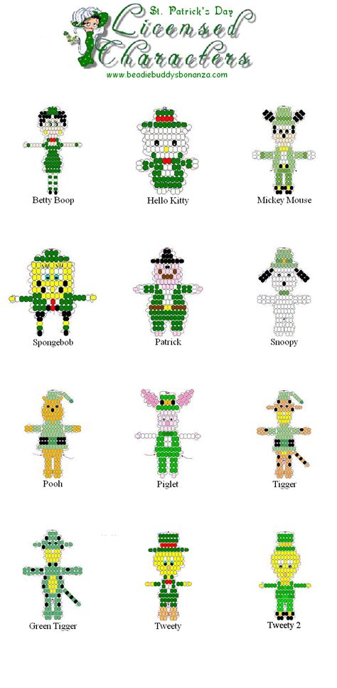 s day character connections stpatricksdaylicensedcharacterspage