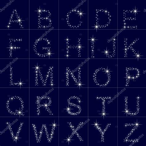 sta lettere alphabet d a 224 z des 233 toiles lettre image vectorielle