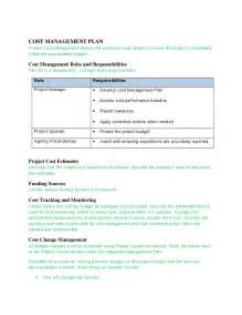 sle project plan template sle project management plan template cost management plan
