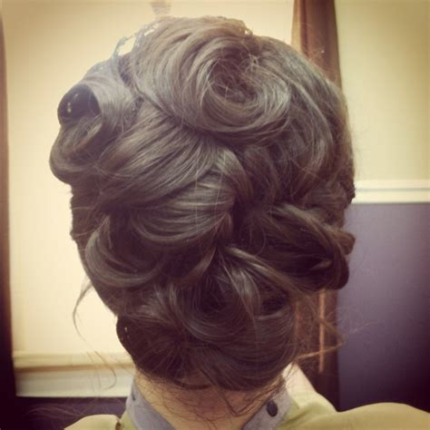 best 25 pin curl updo ideas on retro updo wedding hair pin ups and curled updo