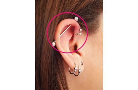 how to care for a helix or forward helix piercing helix ear piercings www pixshark com images galleries