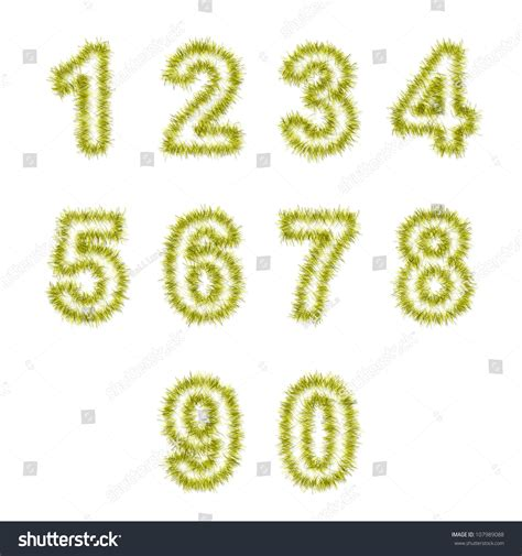 yellowing on white tinsel yellow tinsel digits on white background stock illustration 107989088