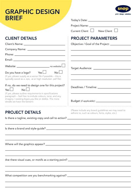 design brief template project brief template resume template ideas