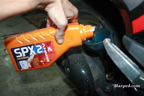 Oli Honda Spx 2 ganti olie pertama cekupi ep ai mazpedia