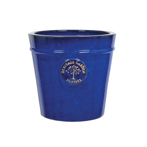 cm blue heritage pot ceramic pots polhill garden centre