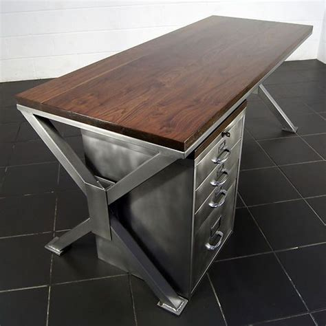 vintage metal office desk a thing of handmade industrial polished metal