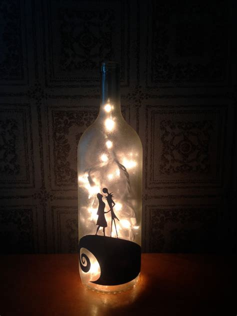 nightmare before christmas wine bottle l jack and