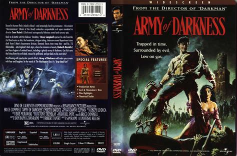 film evil dead 3 complet dvd army of darkness widescreen region 1 us canada