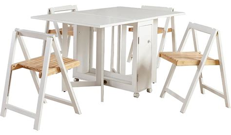 george home folding compact dining table   chairs
