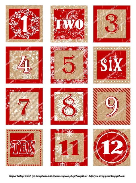 free printable advent calendar numbers printable december daily numbers red squares 1 1 5 or 2