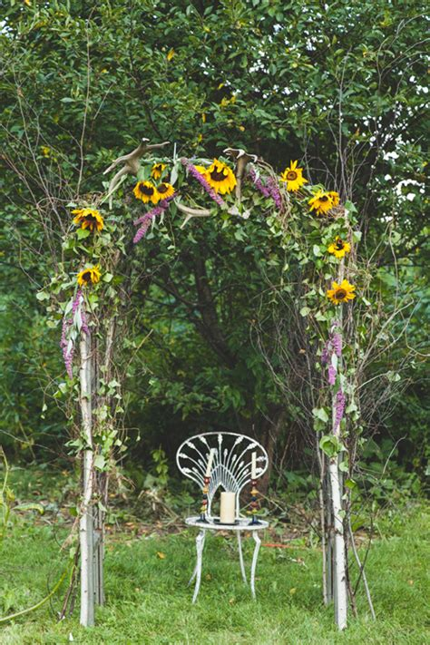 Yellow Wedding Arch by Purple And Yellow Summer Wedding Ideas