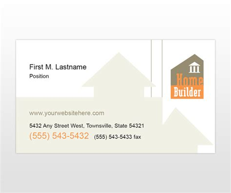 construction business card template home construction and building business card template