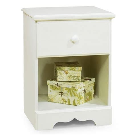 White Nightstand With Wood Top Nightstand White Wood With Drawer And Shelf Furniture