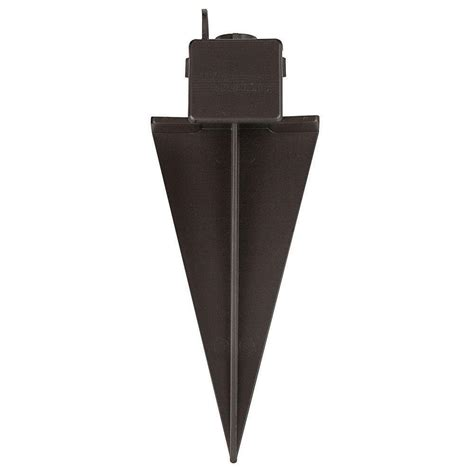 Landscape Lighting Spikes Hinkley Lighting 11 In Composite Bronze Ground Spike With