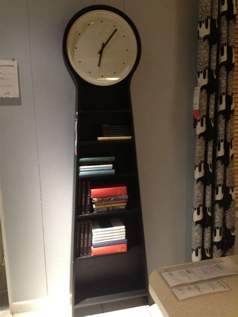 cool clock bookcase at ikea clocks what time is it