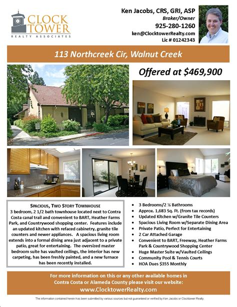 Flyers For Selling Houses Marketing Advertising Walnut House For Sale Ad Template