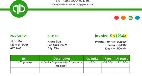 Invoice Template Quickbooks Invoice Exle Quickbooks Custom Invoice Template