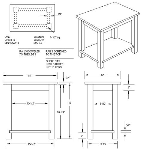 table blueprints  woodworking