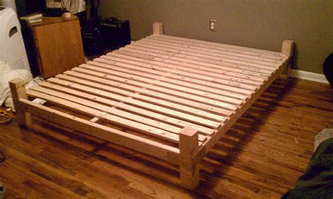diy platform bed  floating nightstands  steps