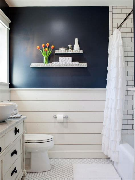 navy and white bathroom fixer upper the takeaways a thoughtful place