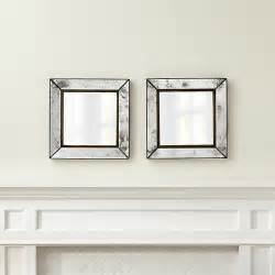 Small Mirrors For Wall Decoration Set Of 2 Dubois Small Square Wall Mirrors Crate And Barrel
