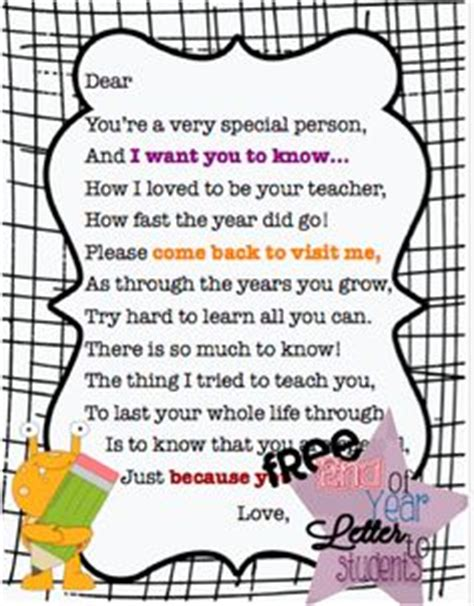 thank you letter to preschool from student 1000 images about letter to students on