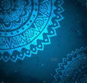 free elegant blue floral patterns background vector 02
