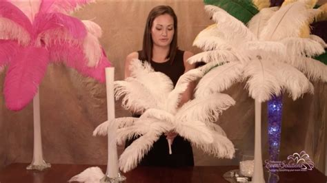 ostrich feather centerpieces how to diy youtube