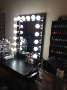 Makeup And Vanity Set A Glowing Light Vanity Makeup Mirror With Lights Home