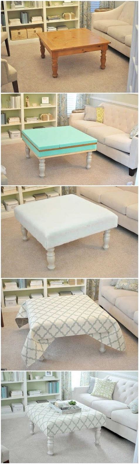 Diy Upholstered Ottoman Coffee Table 25 Best Ideas About Upholstered Ottoman On Diy Ottoman Ottoman Ideas And Pallet