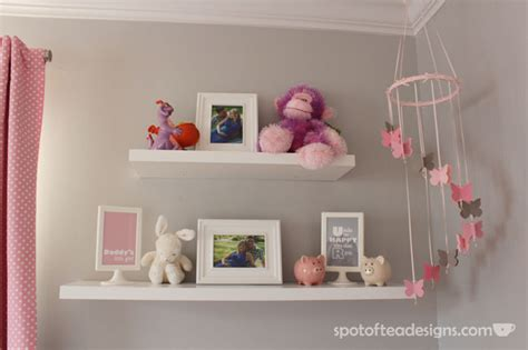 Baby Shelf pink and gray baby s nursery design dazzle