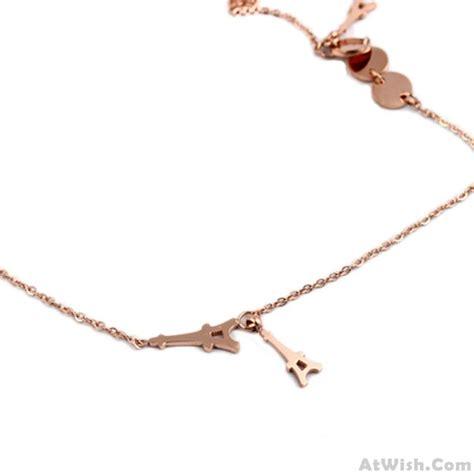 Fashion Eiffel Tower Necklace gold titanium eiffel tower necklace