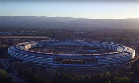 apple park apple park nears completion in latest drone video