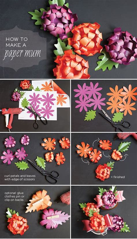 How To Make Paper Mums - diy paper tutorial diy tutorials fall