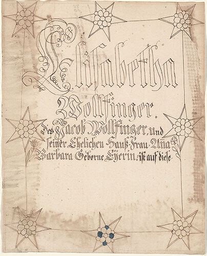 elisabetha collection pennsylvania german fraktur and manuscripts digital