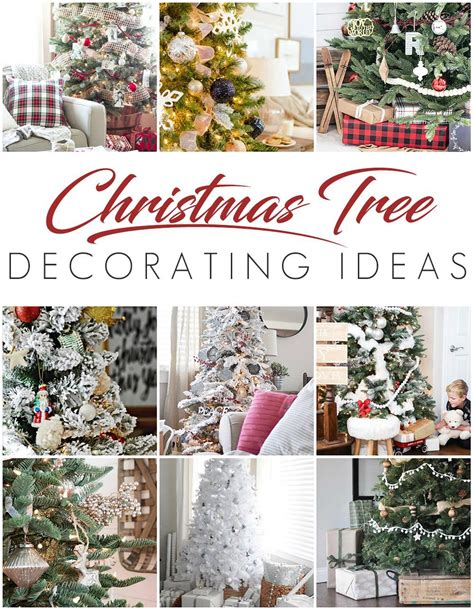 decorating tips white christmas tree rustic glam style setting for four