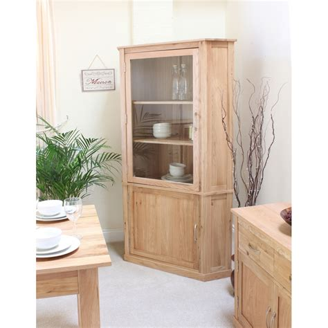 mobel corner display cabinet cupboard glazed solid oak