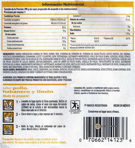 nissin cup noodles sabor pollo habanero  limon