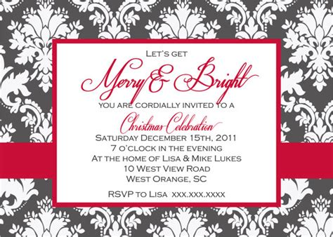 formal christmas party printable invitation