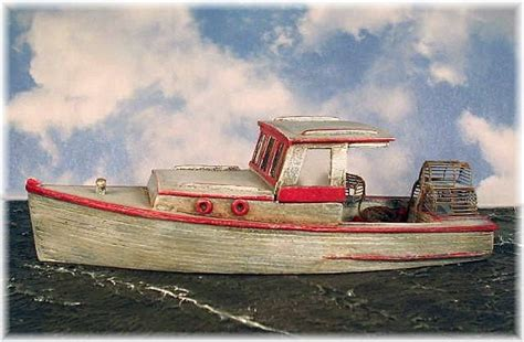 ho scale boat kits ho 1 87 scale 34 lobster boat kit waterline hull